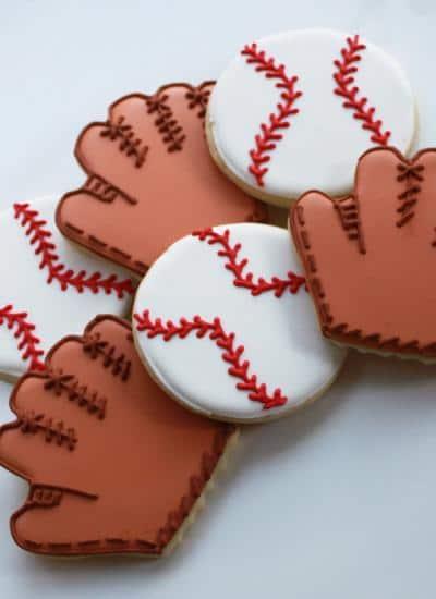 Baseball Glove Cookie Favors