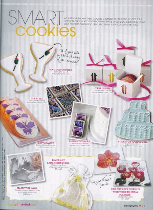 Whipped Bakeshop Featured in Get Married Magazine