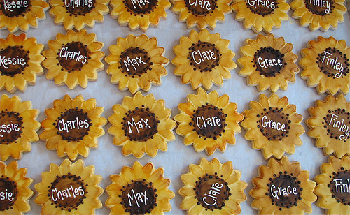 Handpainted Sunflower Cookies by Whipped Bakeshop