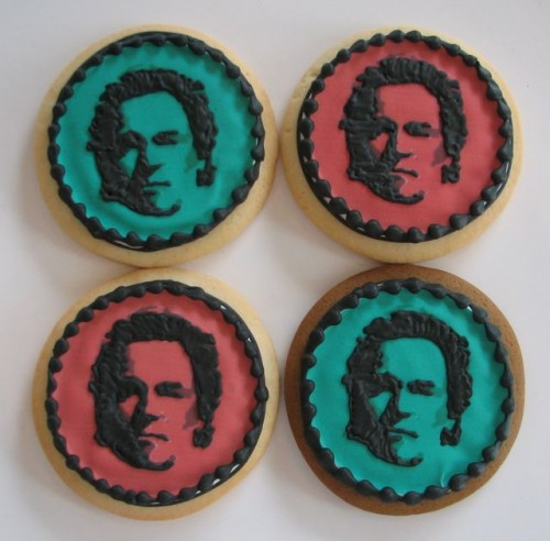 Bruce Springsteen Cookies by Whipped Bakeshop