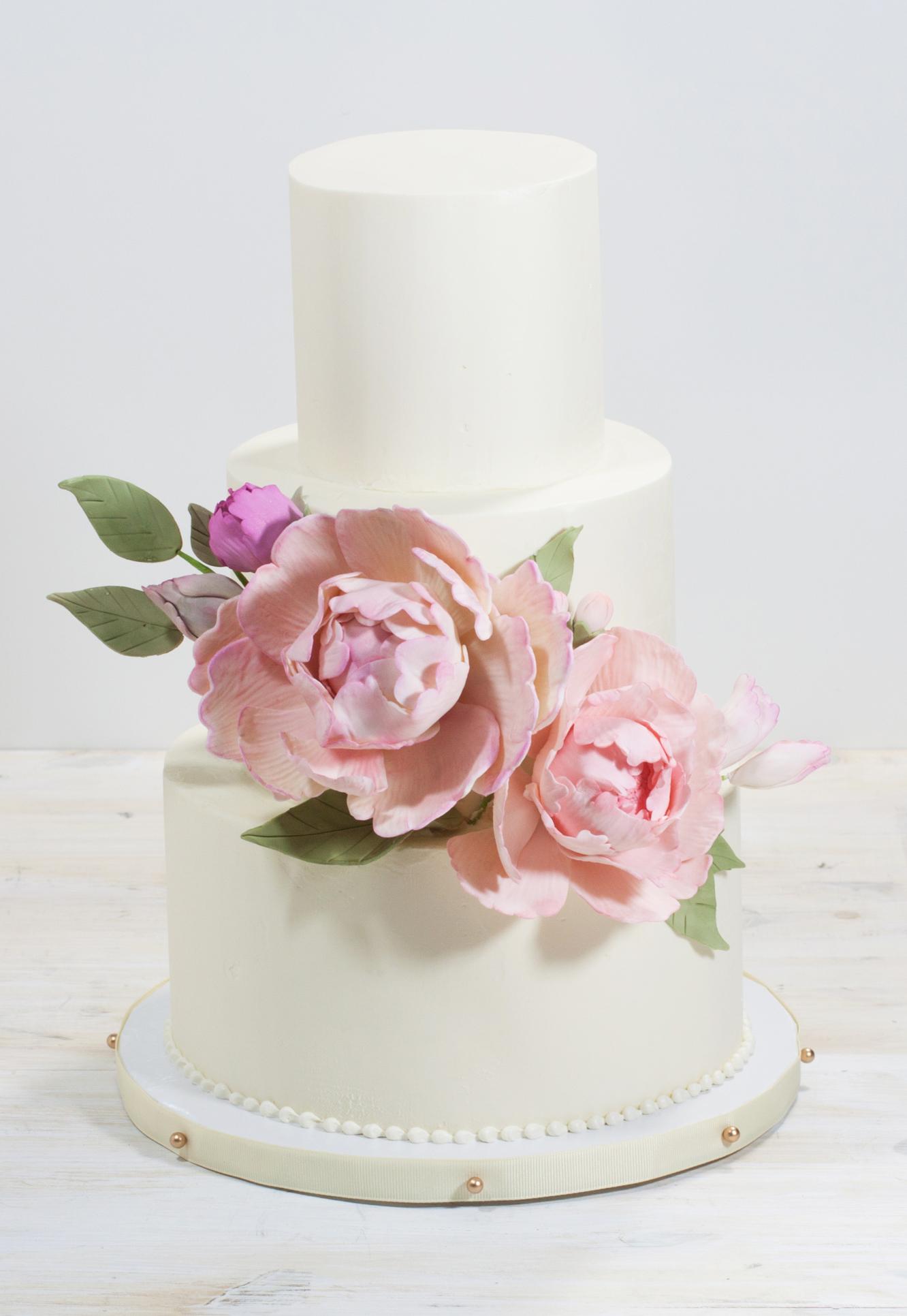 Peonies-Wedding-Cake-Trio-whipped-bakeshop
