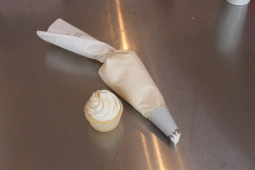 A finished piping bag!