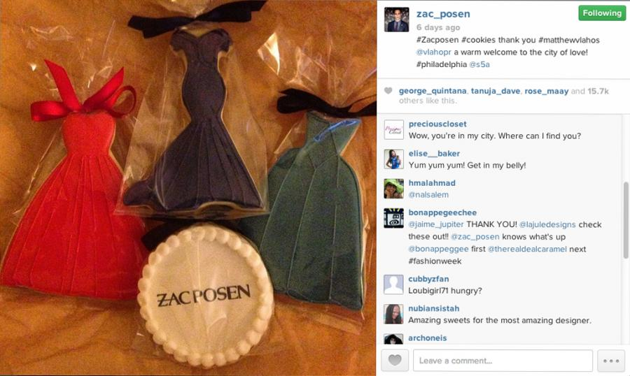 Zac Posen Gown Cookies by Whipped Bakeshop