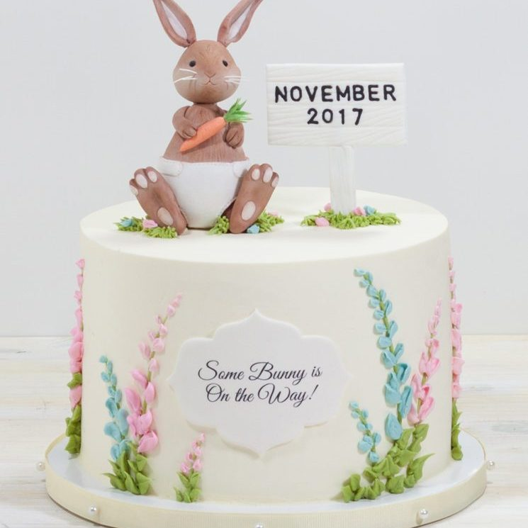 Diaper bunny cake from Whipped Bakeshop